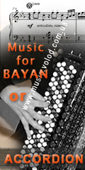Music for Bayan or Accordion published in Ukraine and Russia